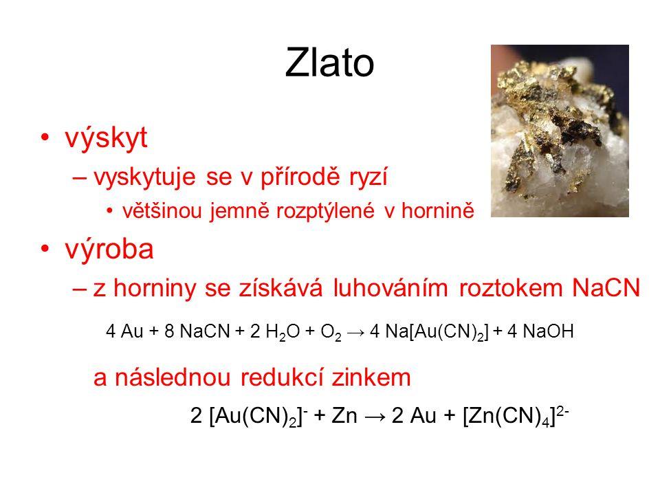 2 [Au(CN)2]- + Zn → 2 Au + [Zn(CN)4]2-